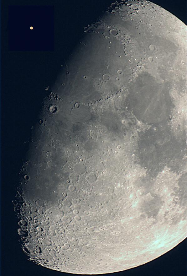 大きさ比較>月と火星