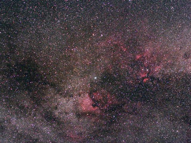 デネブ付近の銀河